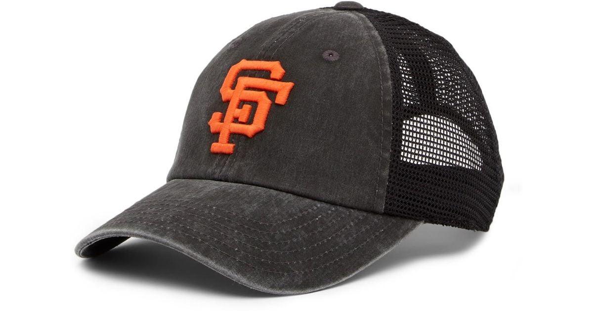 43159c54f ... sale lyst american needle mlb san francisco giants raglan bones mesh baseball  cap in black for