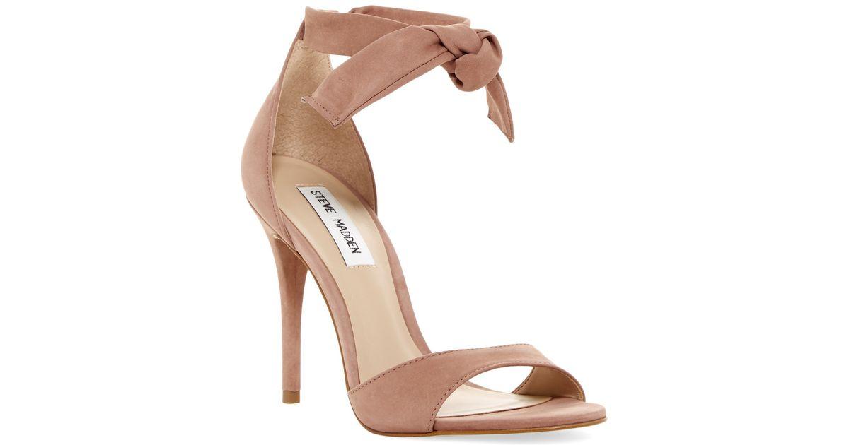 433893365ac Lyst - Steve Madden Bowwtye Heel Sandal in Pink
