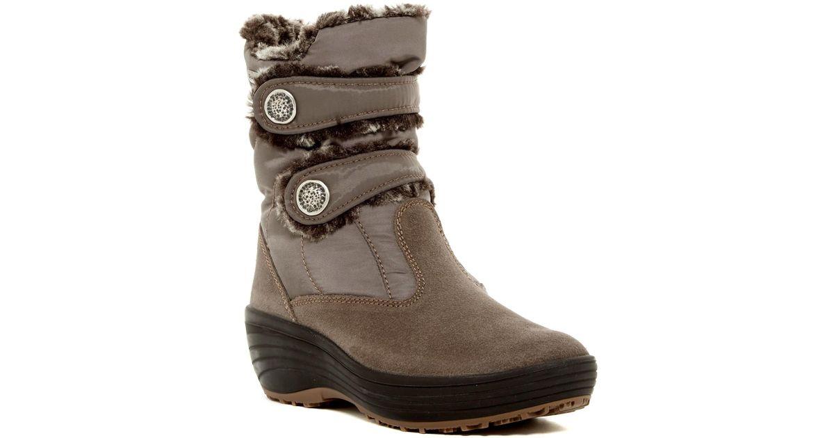 65284a0b43b Lyst - Pajar Caroline Faux Fur Lined Wedge Boot in Brown