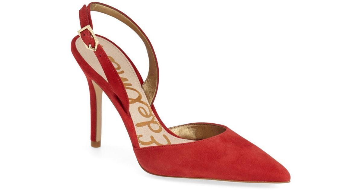 682a8bc20d3abc Lyst - Sam Edelman Dora Slingback Pump in Red