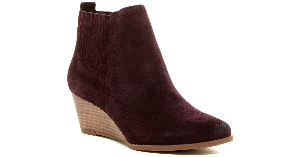 815287d327c Lyst - Franco Sarto Wayra Wedge Bootie - Wide Width Available