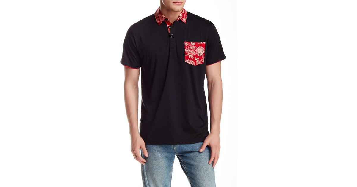 949177f2 Lyst - Filthy Etiquette Boden Short Sleeve Polo in Black for Men