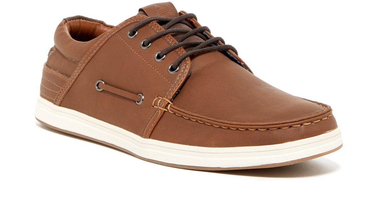aldo mirenwen boat shoe in brown for lyst