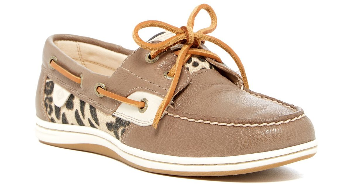 Lyst sperry top sider koifish moc boat shoe in brown for Best boat shoes for fishing