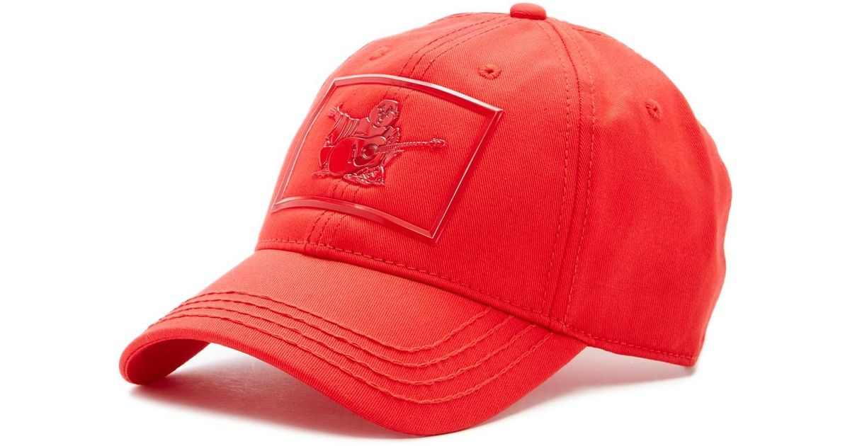 Lyst - True Religion Shiny Buddha Baseball Cap in Red for Men c6caf93cb32c
