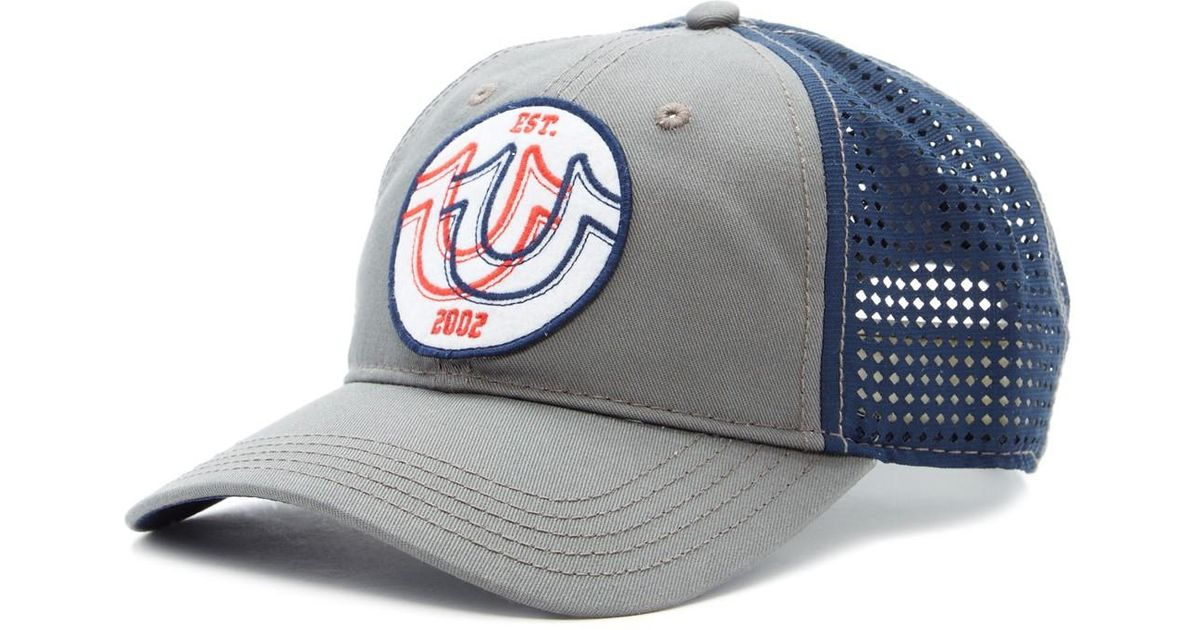 b2958cb282c Lyst - True Religion Overlap Horseshoe Baseball Cap for Men