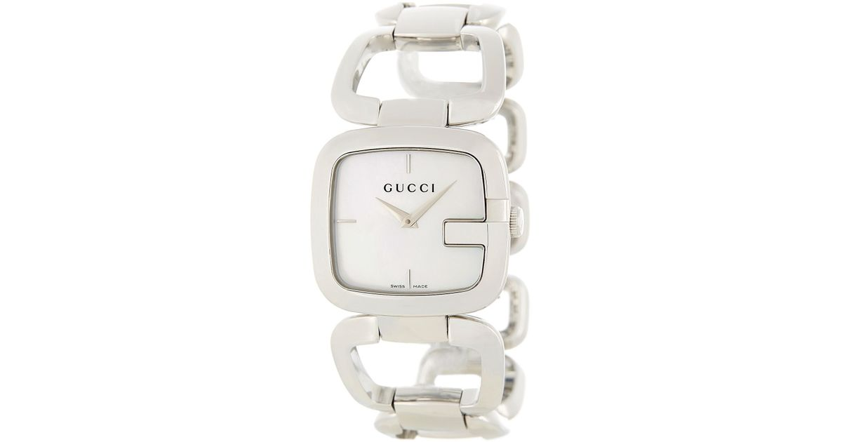 021afed3a9b Lyst - Gucci Women s Mother Of Pearl Dial Bracelet Watch in Metallic