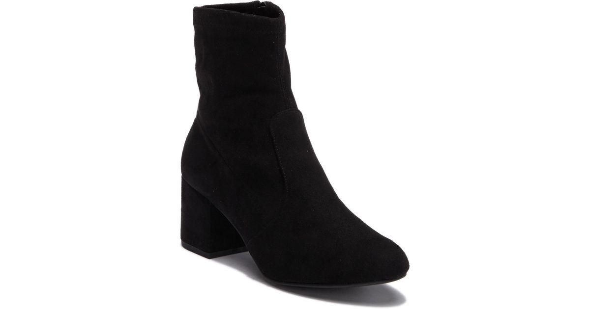 403046c64b2 Lyst - Steve Madden Immense Block Heel Boot in Black