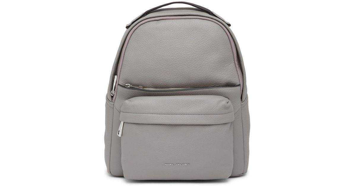 26be3144e4 Marc Jacobs Varsity Pack Large Leather Backpack in Gray - Lyst