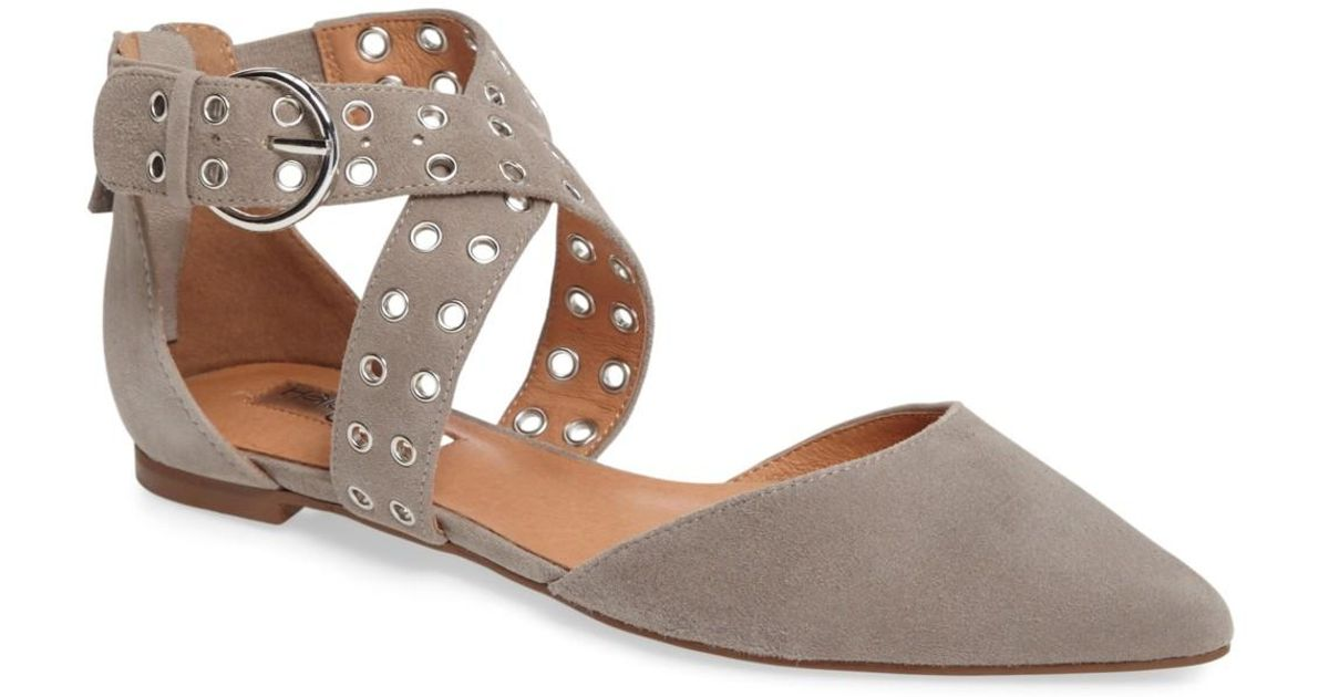 f2a036305e2 Lyst - Halogen (r) Molly Pointy Toe Flat (women) in Gray
