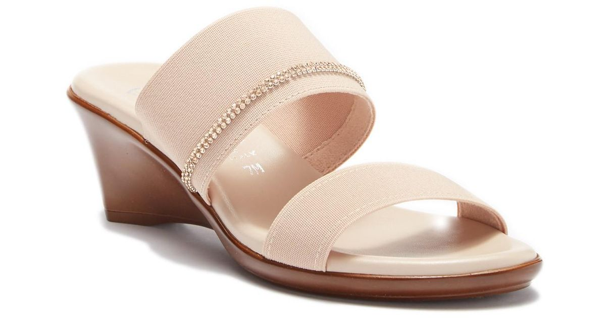 531bc5186cf7 Lyst - Italian Shoemakers Miami Wedge Sandal - Wide Width Available in  Natural