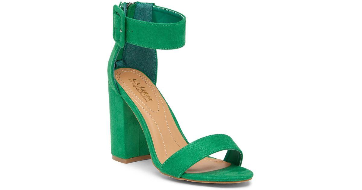 bde66739837 Lyst - Catherine Malandrino Seaker Open Toe Heeled Sandal in Green