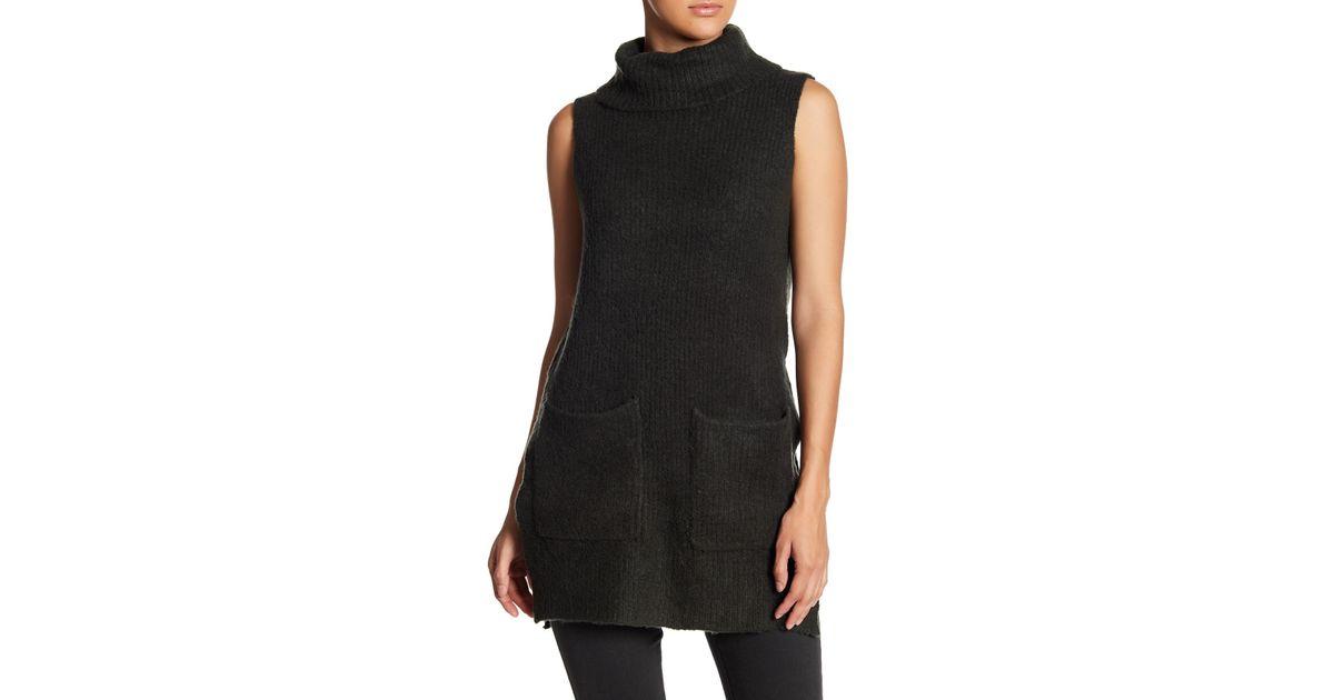 e29c5204e280c Lyst - Lush Turtleneck Sweater Vest in Black