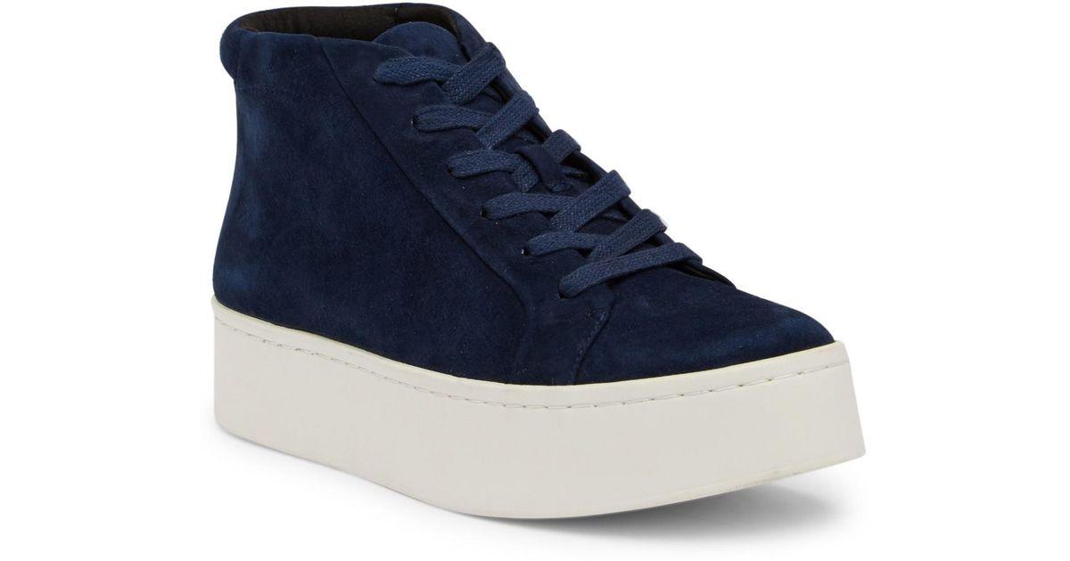 706f927e0e5 Lyst - Kenneth Cole Janette High Top Platform Sneaker in Blue