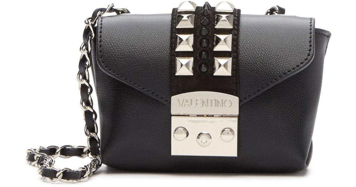 96354571978 Valentino By Mario Valentino Paulette Mini Studded Leather Crossbody Bag in  Black - Lyst