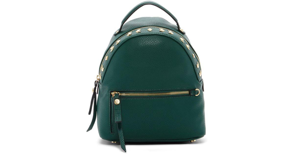 693d6edde6e40 Lyst - Sam Edelman Sammi Studded Vegan Leather Mini Backpack in Green