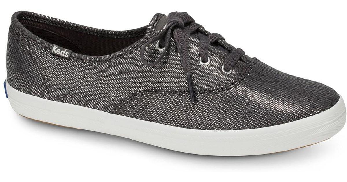 25fa67f14e7ff Lyst - Keds Champion Metallic Linen Sneaker - Save 17%