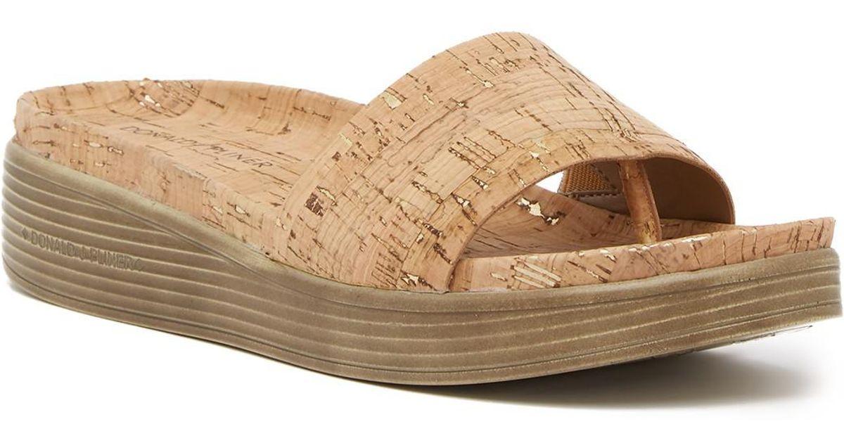 Lyst Donald J Pliner Fiji Low Wedge Slide Sandal