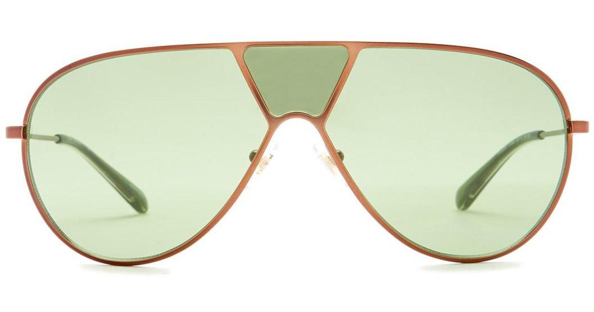 45d854b2b5 Tory Burch Women s Modern Aviator Metal Frame Sunglasses in Green - Lyst