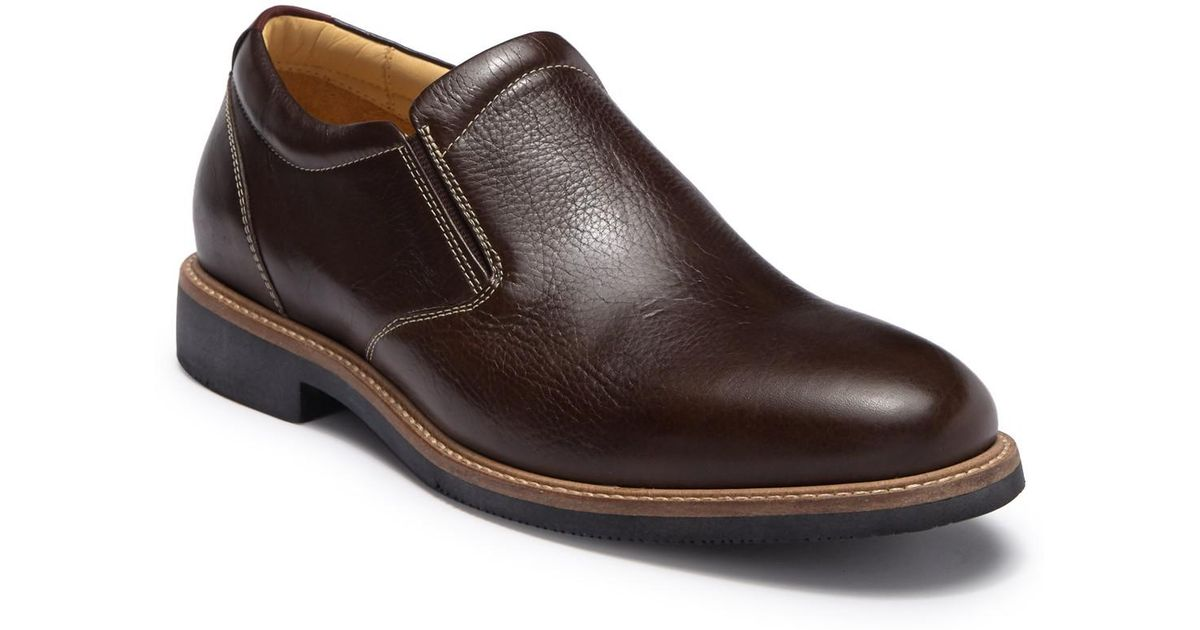 c41e77ab163 Lyst - Johnston   Murphy Barlow Leather Slip-on Loafer - Wide Width  Available in Brown for Men