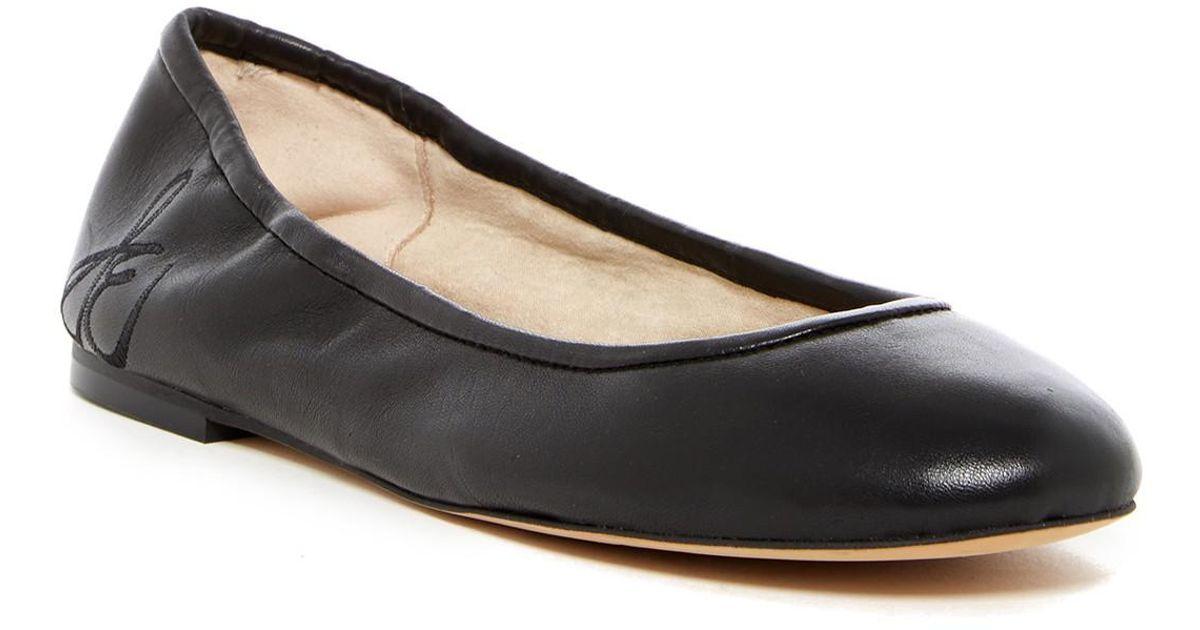 82764970c01255 Lyst - Sam Edelman Fritz Leather Ballet Flat in Black
