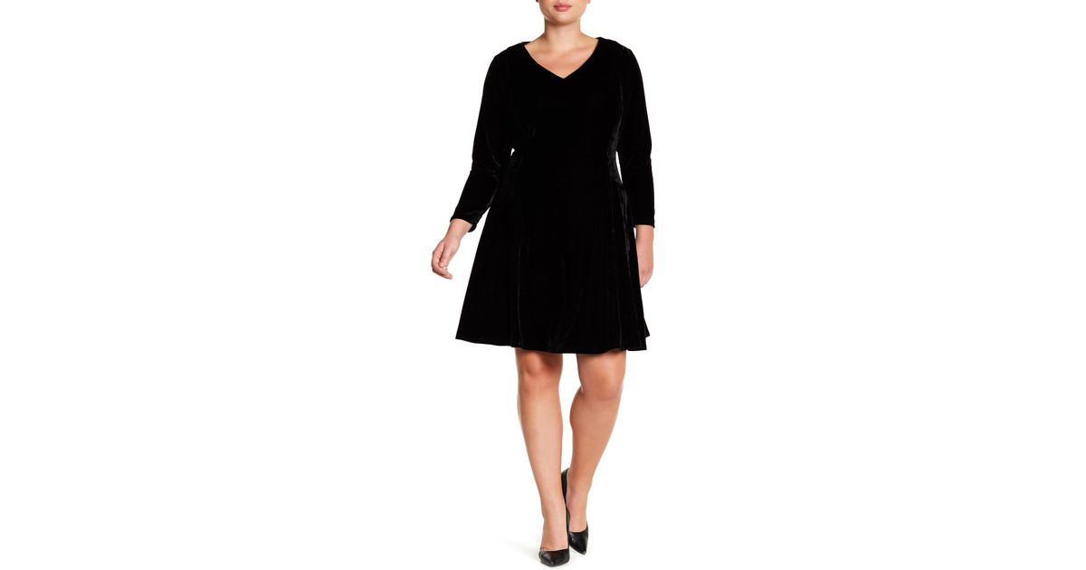 4e399052a2d Lyst - Alexia Admor Velvet Fit   Flare Dress (plus Size) in Black