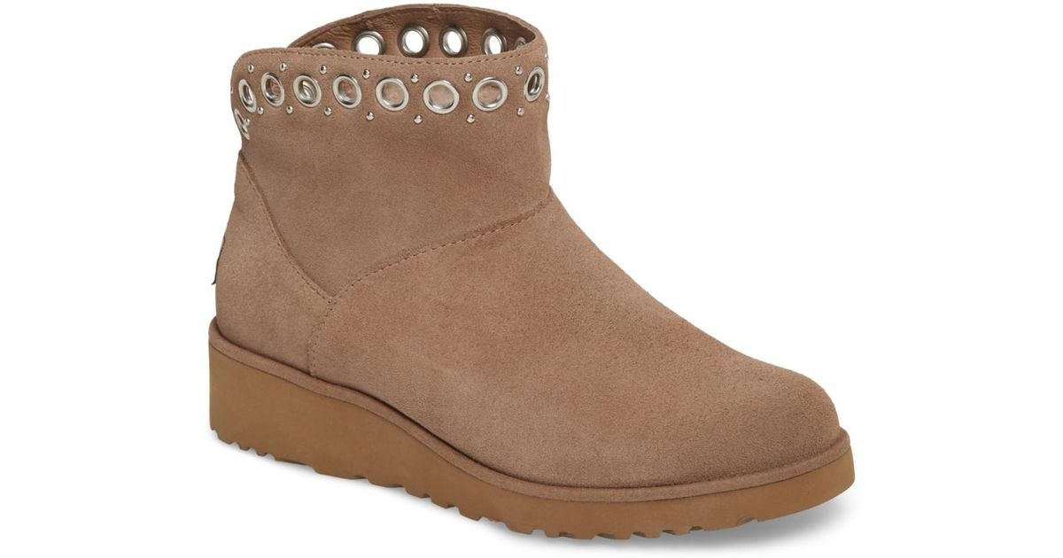 b11433ec2e34 Lyst - UGG (r) Riley Grommet Wedge Boot (women) in Brown