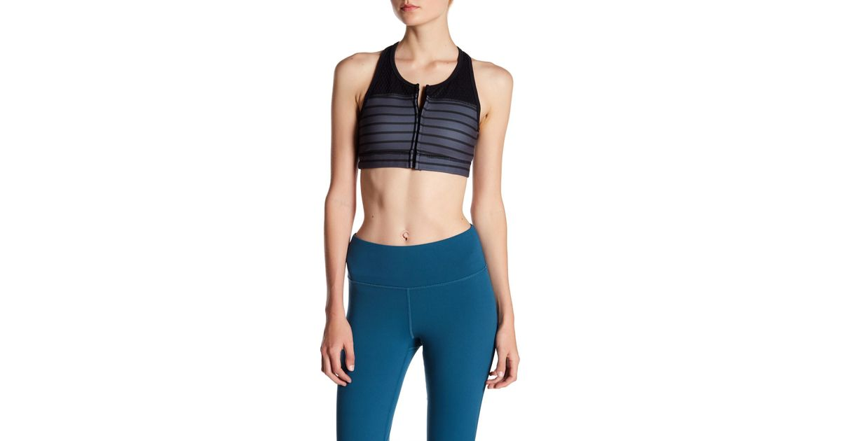 88be5a381c Lyst - Threads For Thought Alexa Zip Sports Bra in Blue
