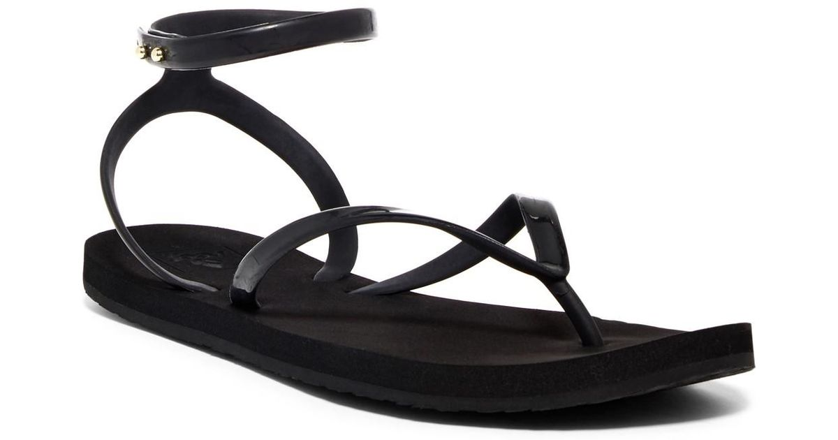d0eb9225abb2b Lyst - Reef Stargazer Wrap-around Ankle Sandal (women) in Black