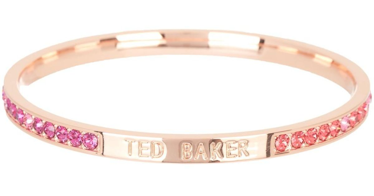 a314312a46e69 Ted Baker - Pink Clem Narrow Crystal Band Bangle - Lyst