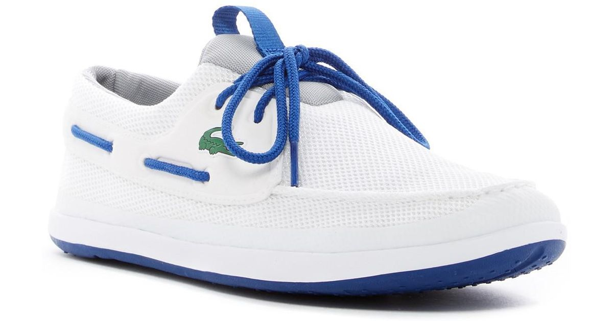 a4aff7036 Lacoste Footwear Landsailing Navy Trainer Boat Shoes - Style Guru ...