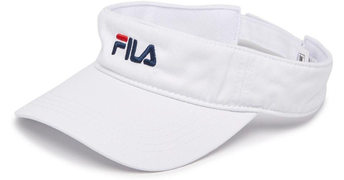 Lyst - Fila Heritage Visor in White for Men f6e07c6a1cc6