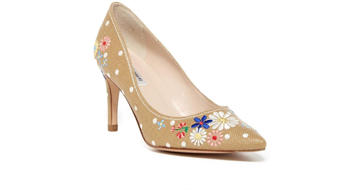 28ad9819499b Lyst - L.K.Bennett Fiore Embroidered Pump in Natural