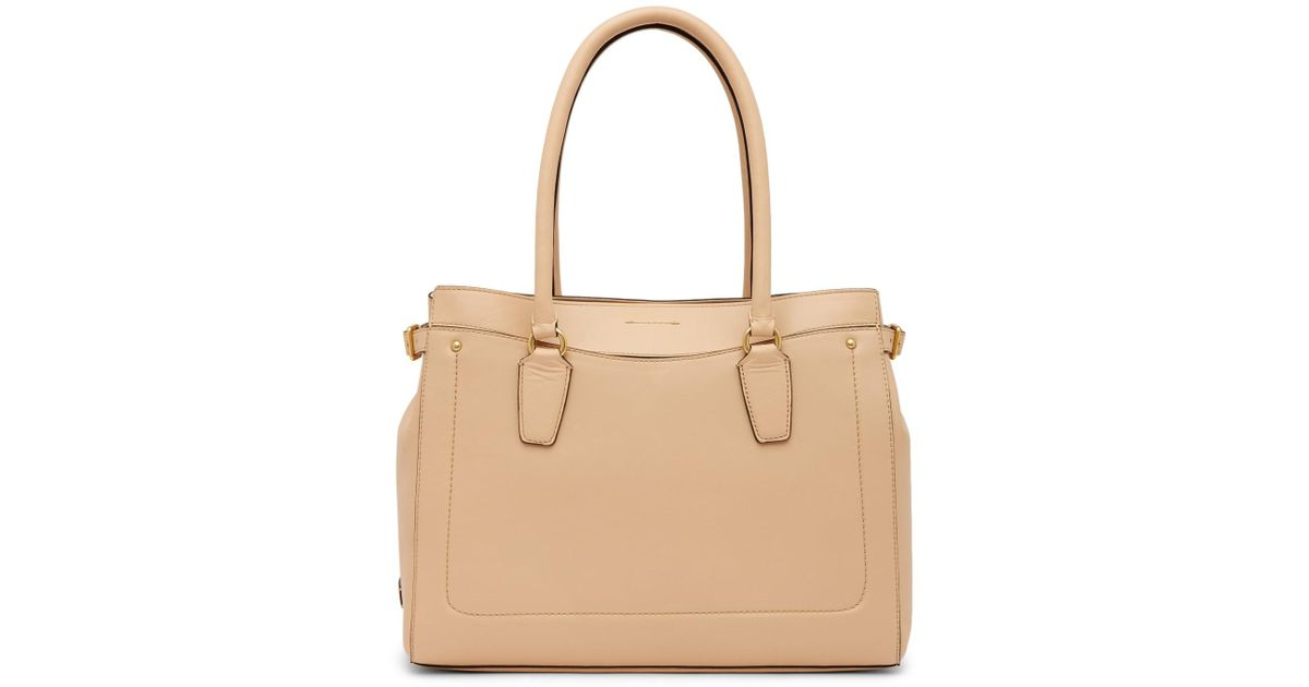 2a4bd9f8ce00 Lyst - Cole Haan Esme Leather Work Tote Bag in Natural