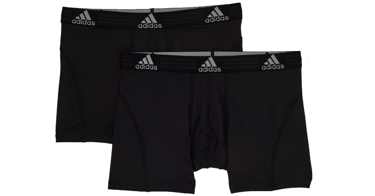 4a3999a6c050 Lyst - adidas Sport Performance Climalite Trunks - Pack Of 2 - M in Black  for Men