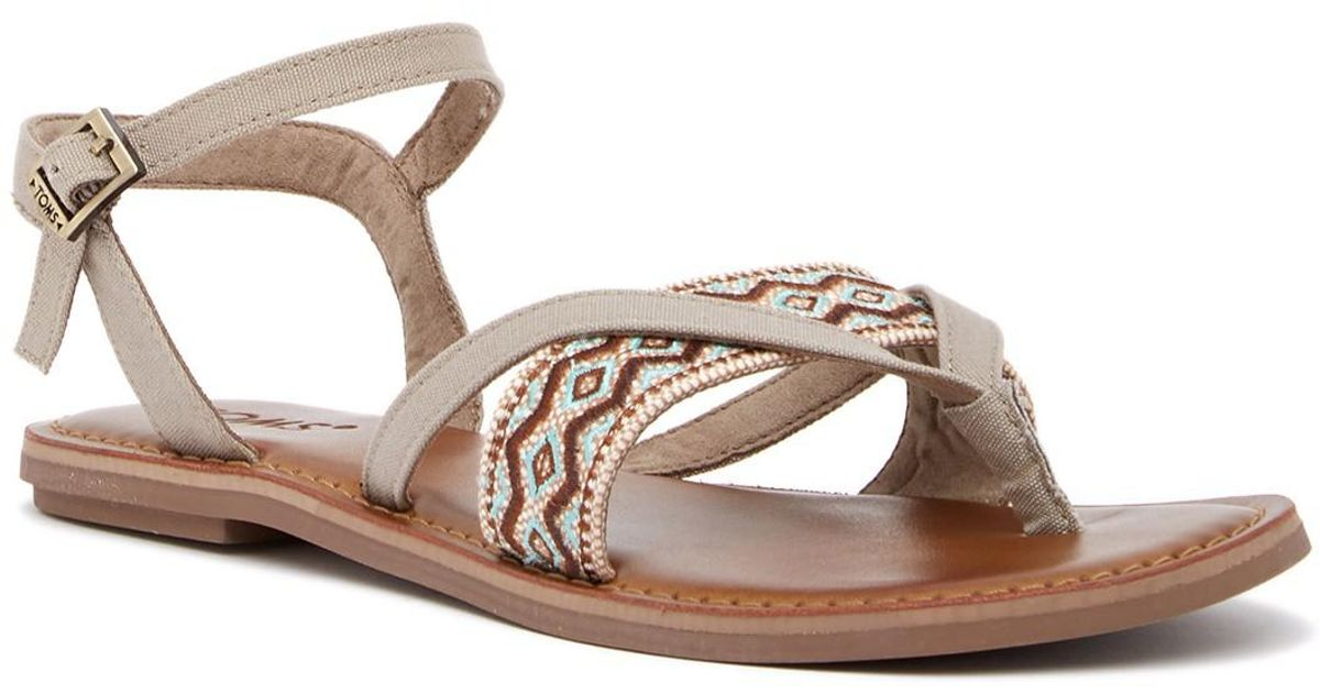 TOMS Lexie Embroidered Thong Sandal afOzBhlH