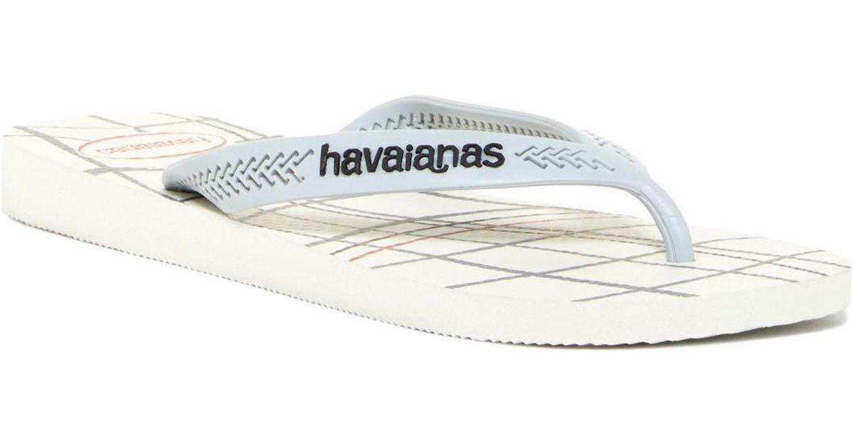 b921cef0059aa Lyst - Havaianas Aero Graphic Flip Flop (men) in White for Men