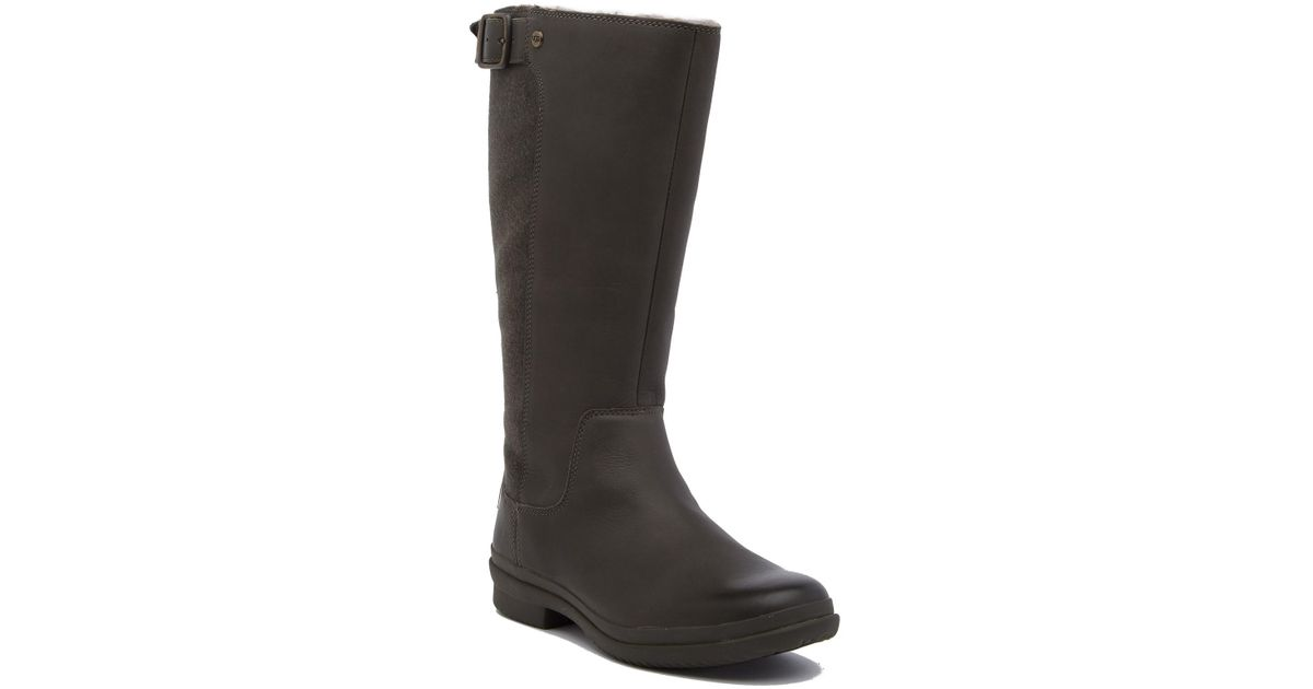 d22c5c5fd99 Ugg - Black Janina Waterproof Uggpure Lined Boot - Lyst