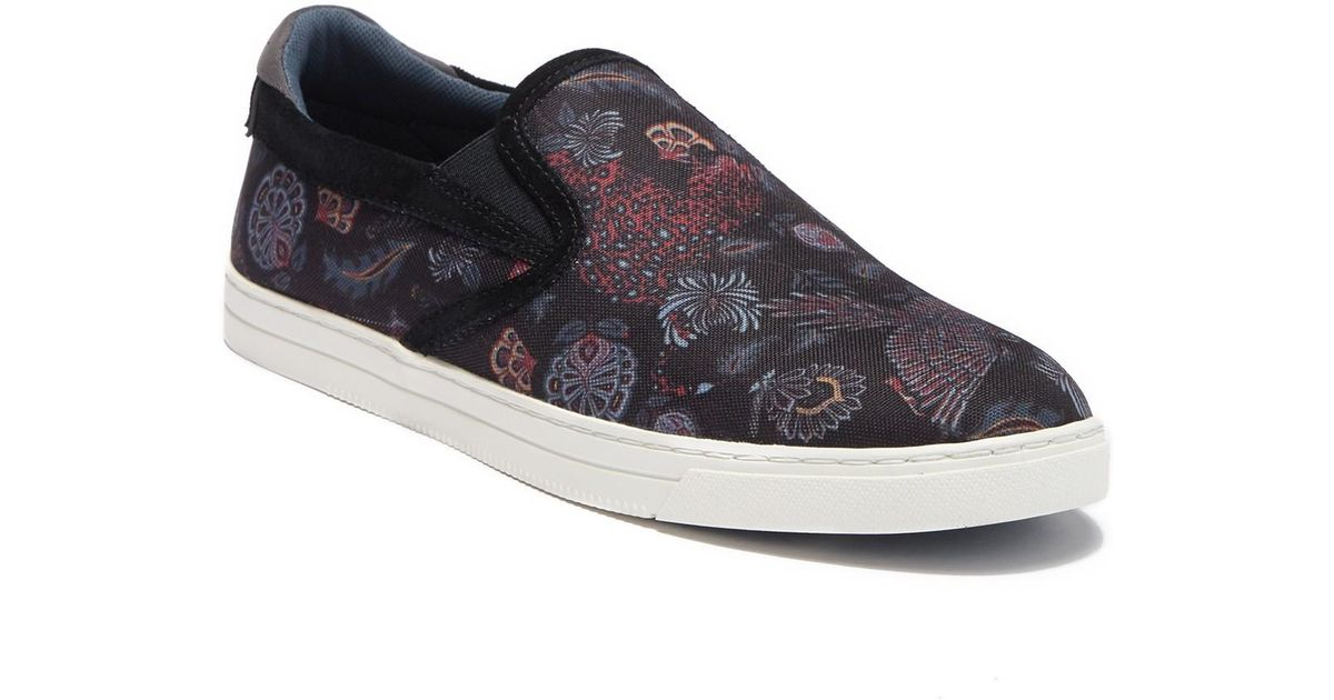 b3dd9b7cb Lyst - Ted Baker Mhako Printed Slip-on Sneaker for Men