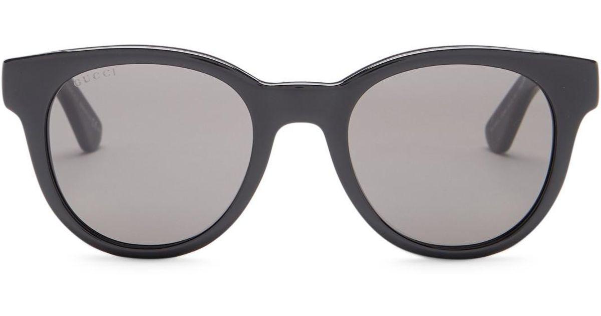 a4d947feba Lyst - Gucci Women s Colorblock Sunglasses in Gray