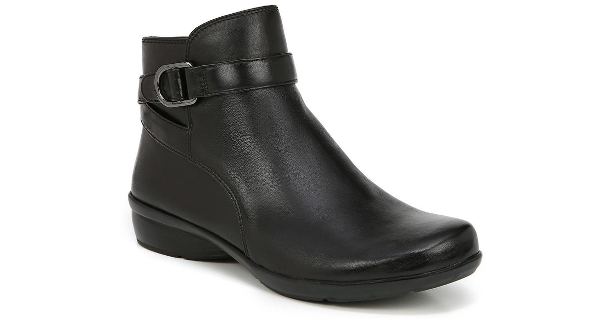 8ebe5c2fe25 Lyst - Naturalizer Colette Leather Bootie - Wide Width Available in Black