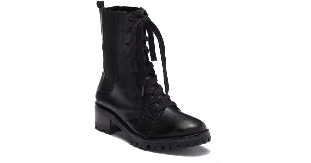 eaf30e4e17 Lyst - Schutz Bettina Combat Boot in Black