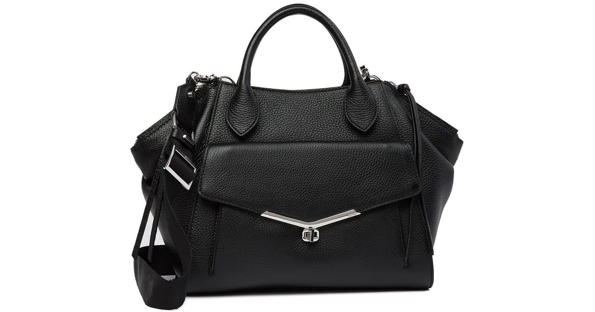 a88a82cc69a0 Lyst - Botkier Vivi Angled Leather Satchel - Additional Handles Available  in Black