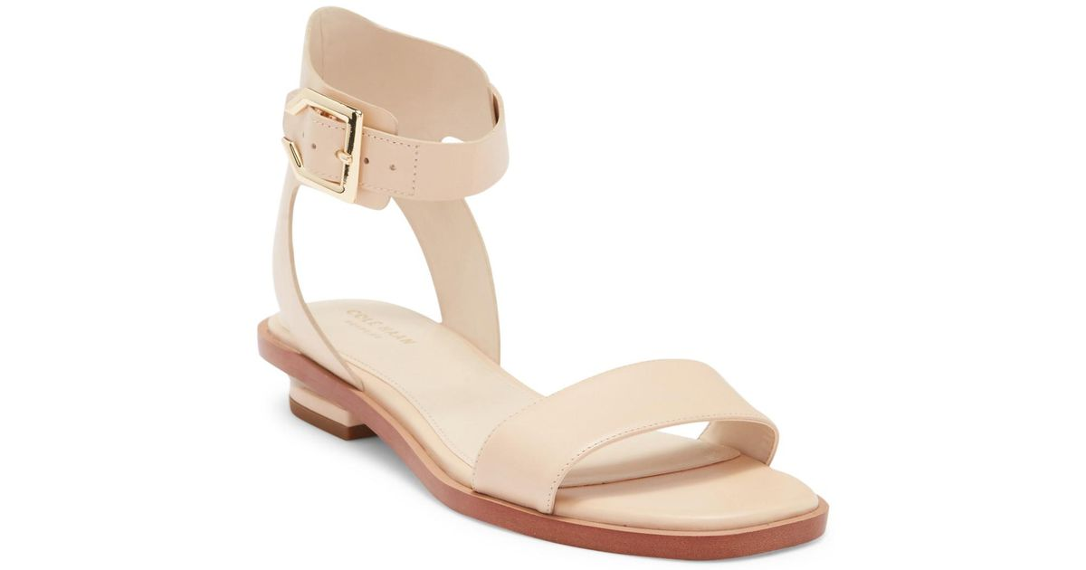 90df3e89bbe Lyst - Cole Haan Avani Leather Sandal in Natural