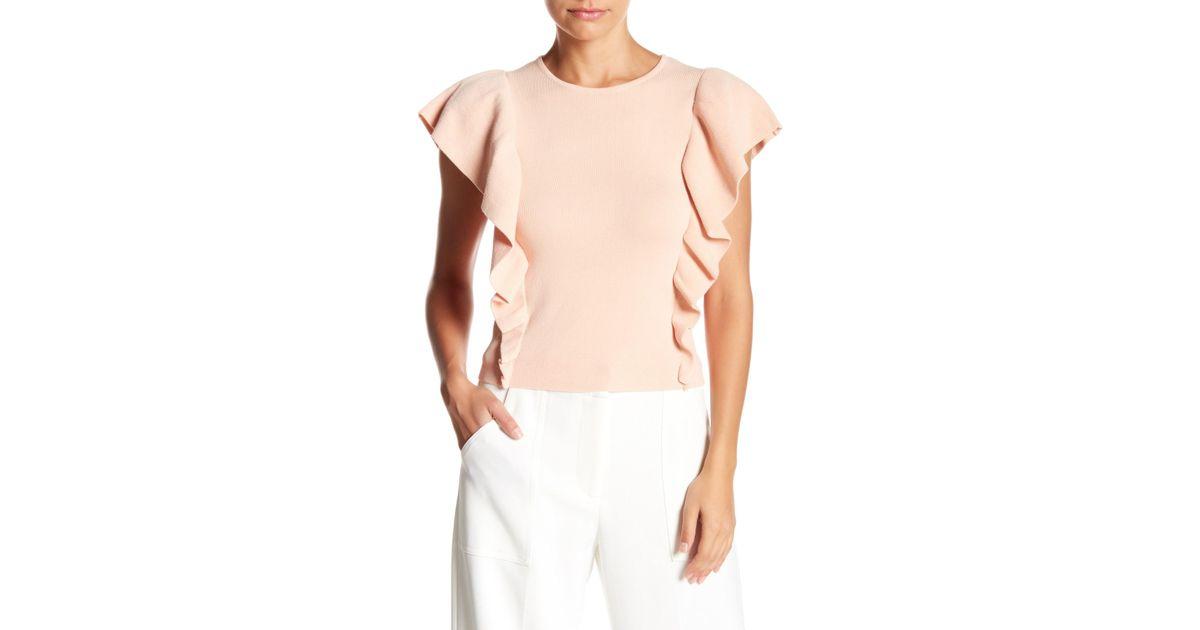 90bbbc30c3a64d Lyst - Lucy Paris Short Sleeve Ruffle Blouse
