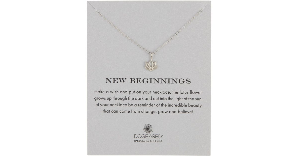 Dogeared Sterling Silver New Beginnings Happy Lotus Necklace In