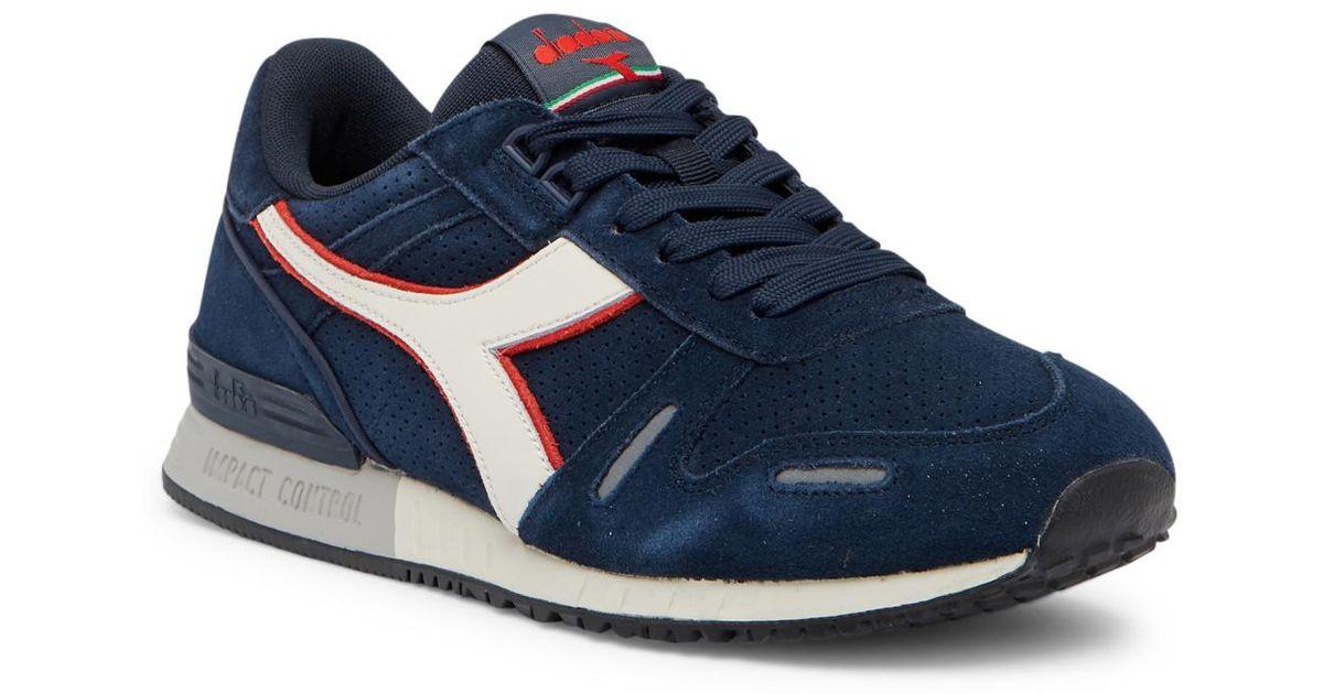 Lyst - Diadora Titan Premium Suede Sneaker in Blue for Men 9caa138dc3f