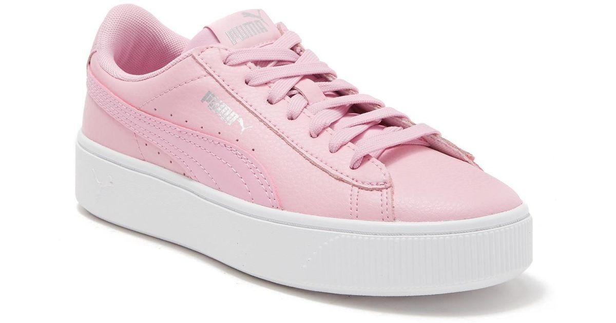 Pink Puma Stacked Sneaker Platform Vikky Lyst sChQrtdx
