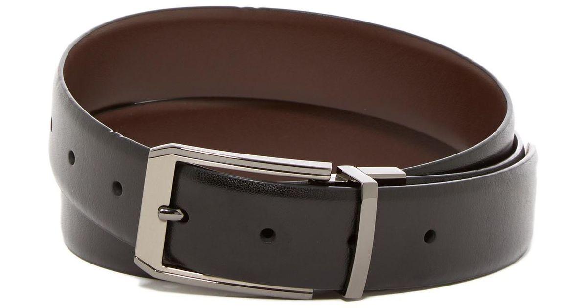 89f26c44e Original Penguin Love Triangle Leather Belt in Brown for Men - Lyst