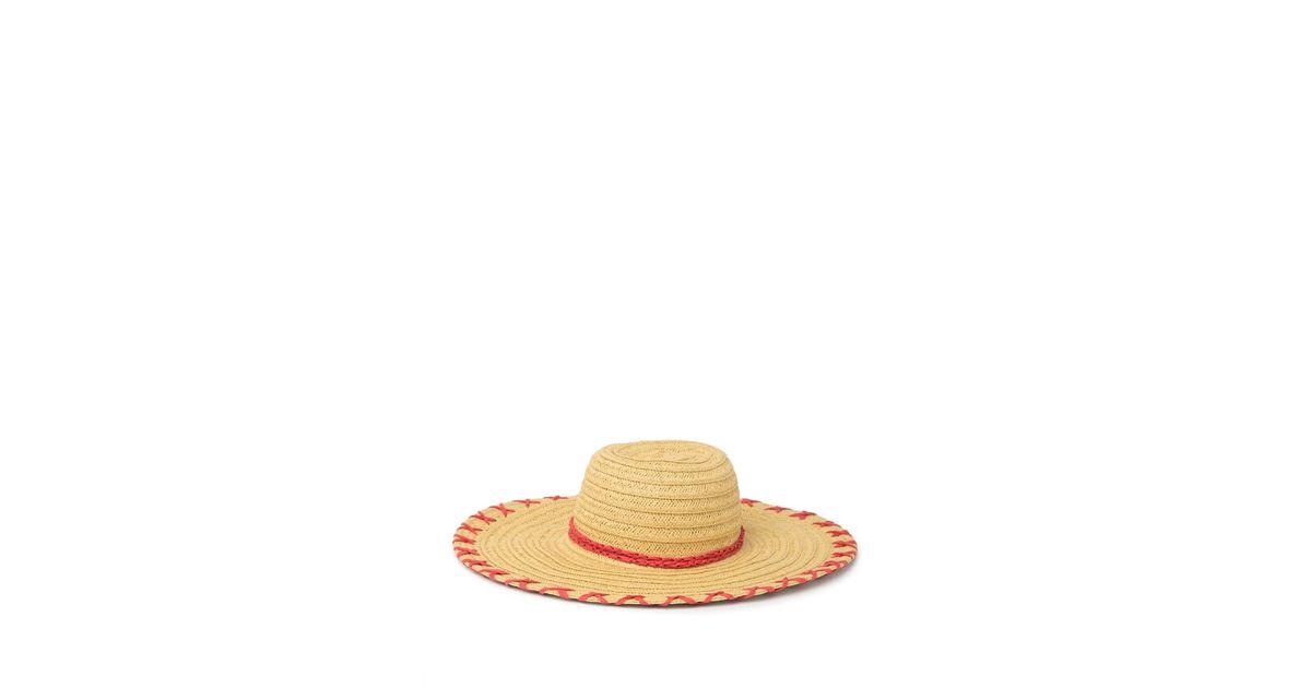 9dd3a71d3 Calvin Klein - Natural Whip Stitch Sunhat - Lyst